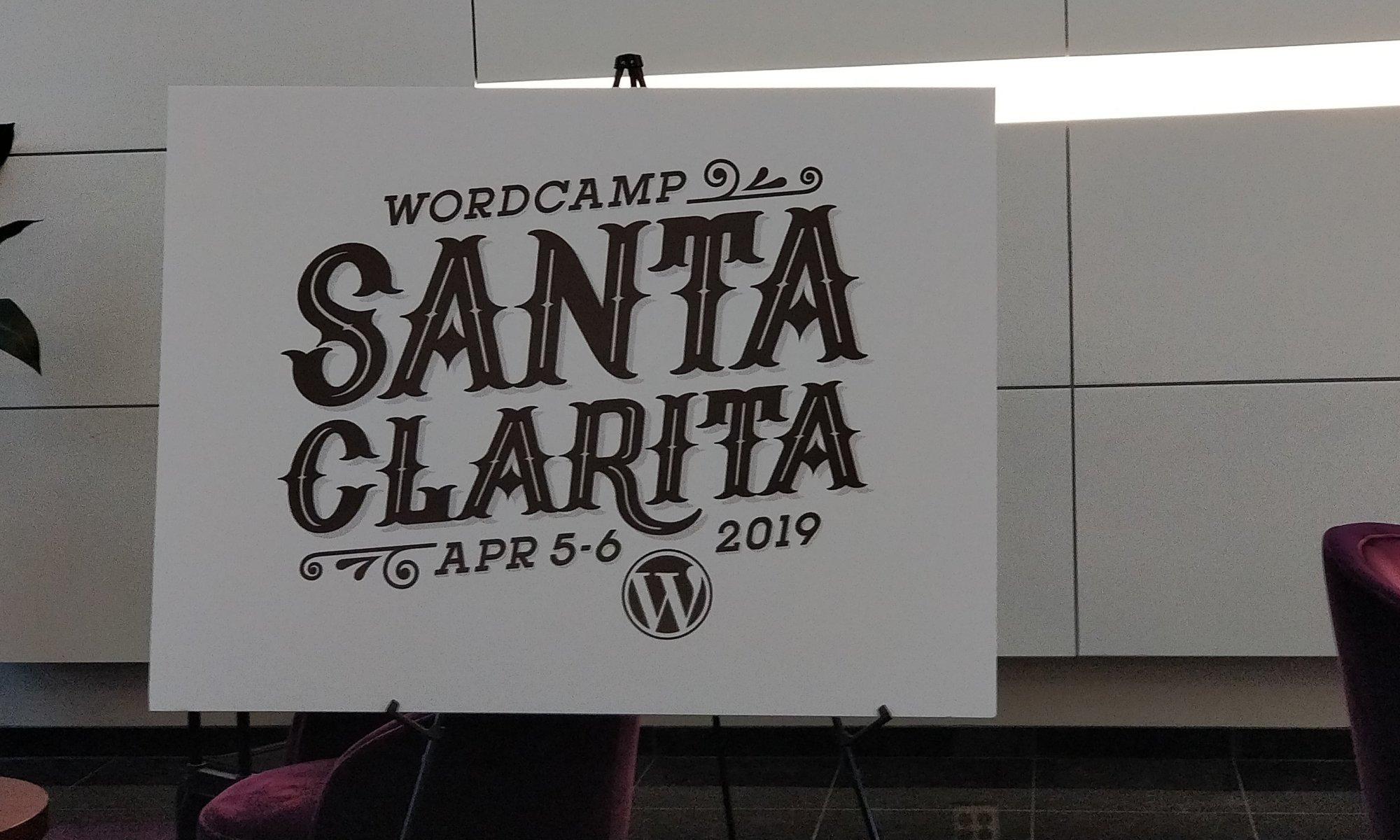 Santa Clarita WordCamp Signage