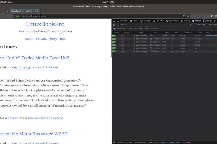Firefox viewing LinuxBookPro.com
