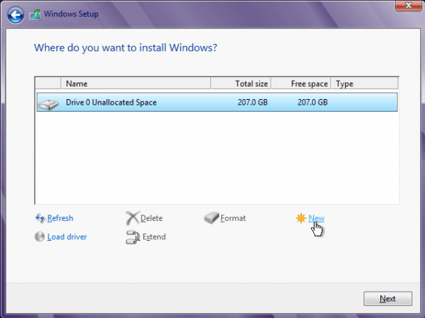Windows 8 Partition Tool