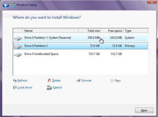 Windows 8 Create Partition