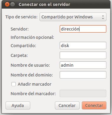 Conectar con el servidor