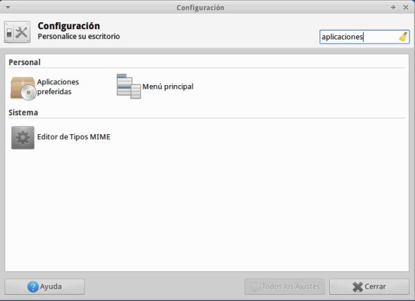 Aplicaciones preferidas XFCE