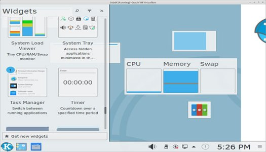 SolydXK's KDE edition widgets.