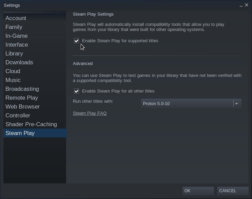 Linux Gaming Steamplay