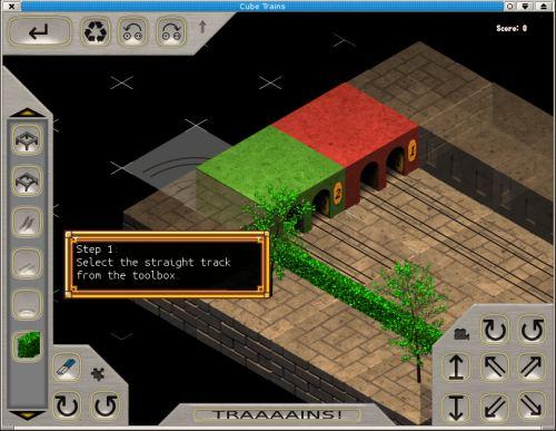 Cube Trains - puzzle game - LinuxLinks