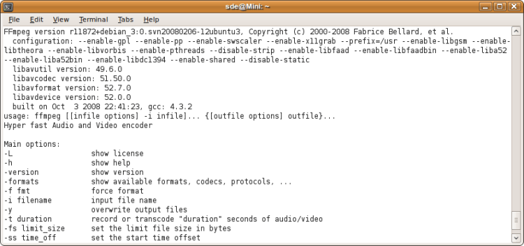 FFmpeg - record, convert and stream audio and video - LinuxLinks