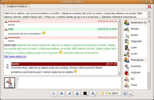 Jabbim - XMPP/Jabber server - LinuxLinks