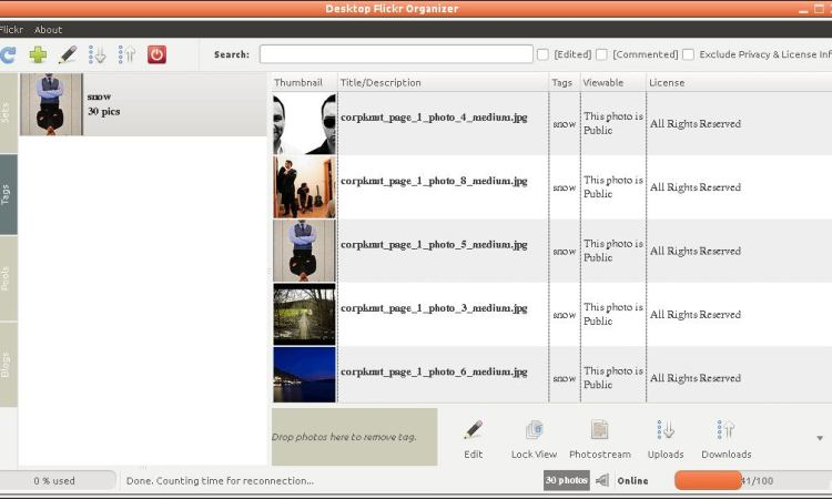 Desktop Flickr Organizer