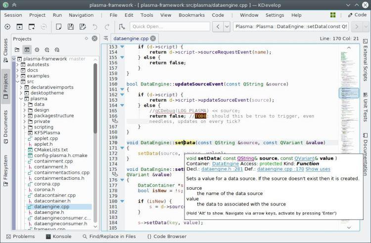 KDevelop - cross-platform IDE for C, C++, Python, QML