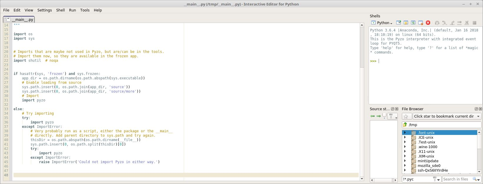 Pyzo - Cross-Platform Python IDE focused on Interactivity