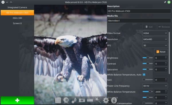 Webcamoid - full featured webcam application - LinuxLinks
