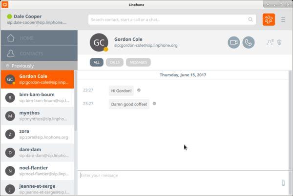 Linphone - open source VOIP software - LinuxLinks