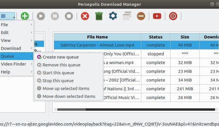 Persepolis Download Manager: Impressive Python frontend for aria2
