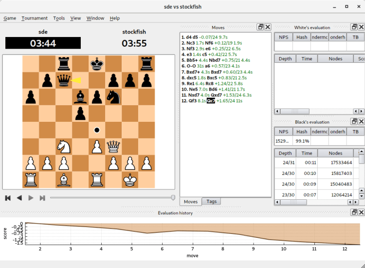 Cute Chess - chess graphical software, command-line