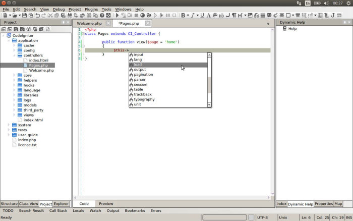 CodeLobster - New PHP IDE for Linux Systems - LinuxLinks