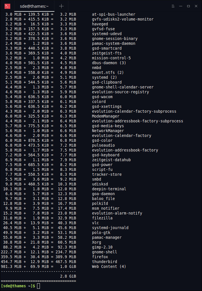 Essential System Tools: ps_mem - accurately report memory usage of
