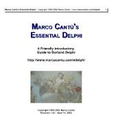 Essential Delphi