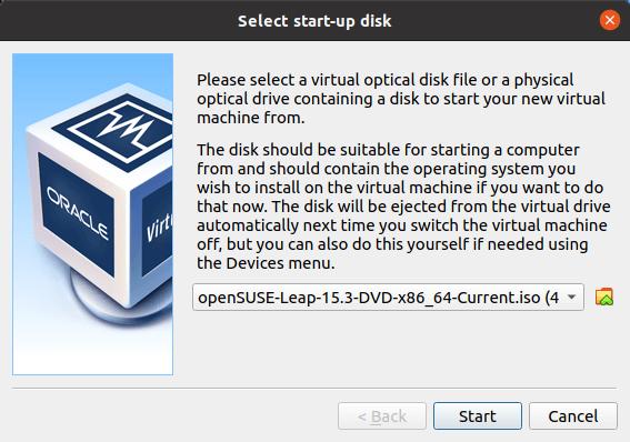 VirtualBox - Optical Disk Selector