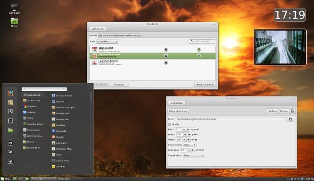 Linux Mint - desktop widgets
