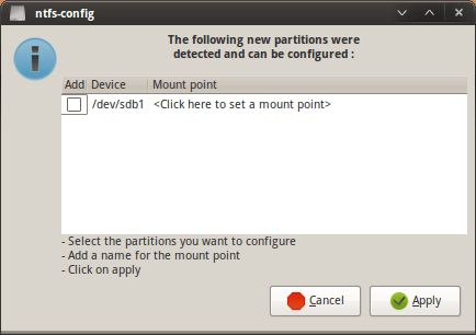 NTFS Mount in Linux