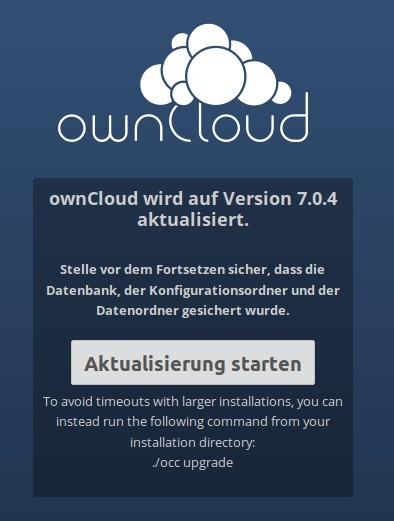 ownCloud Aktualisierung