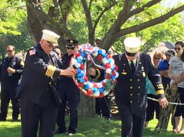 Laying of the wreath by Linwood Fire Dept.