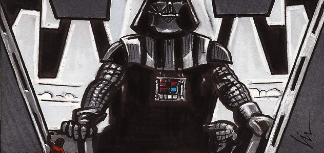 """Lord Vader will see you now."" My sketchcards for the 501st Legion"