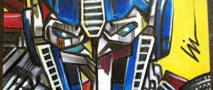 Transformers: Sketchcards in disguise! New cards for Breygent to share.