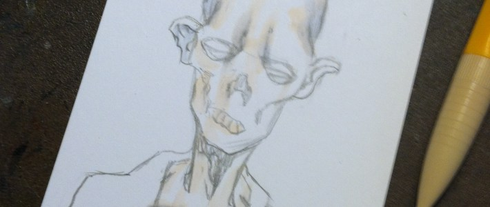 """Things are a bit DEAD around here- """"Deadworld"""" sketchcards approved!"""