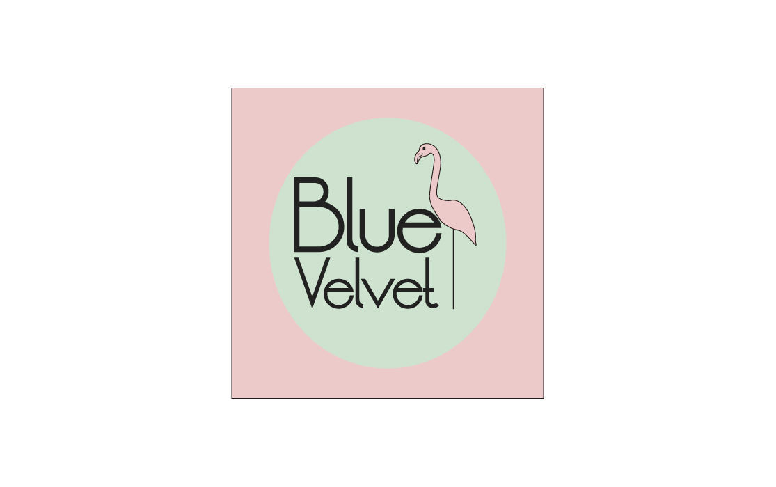 Diseño de logotipo para Blue Velvet - Lion Comunicación en Zaragoza