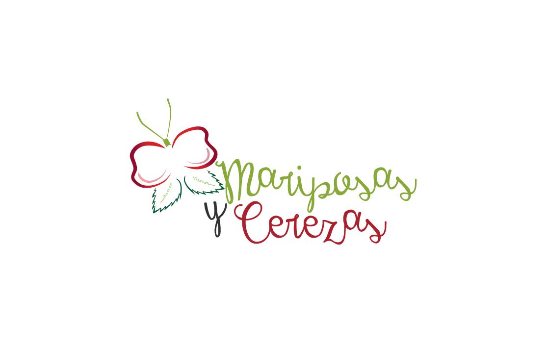 Diseño de logotipo para Mariposas y Cerezas - Lion Comunicación en Zaragoza