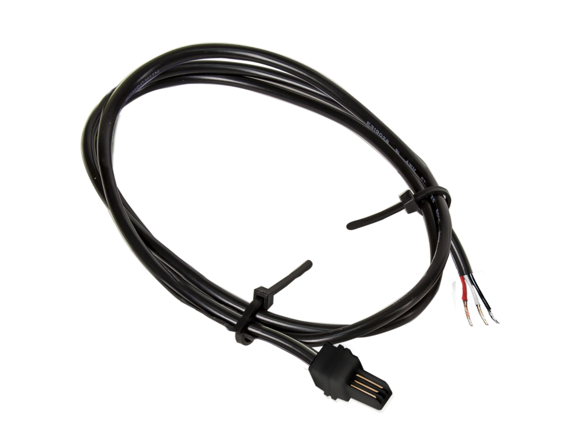 3 Male Pigtail Power Cable