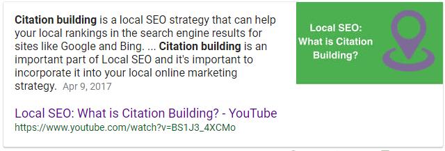 Local Citation Building Description