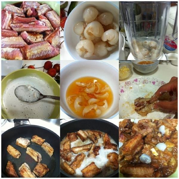 荔枝蜜糖骨 Lychee Honey Pork Ribs