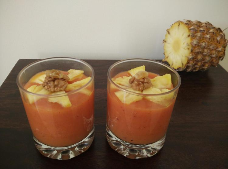 Papaya and Banana Smoothie