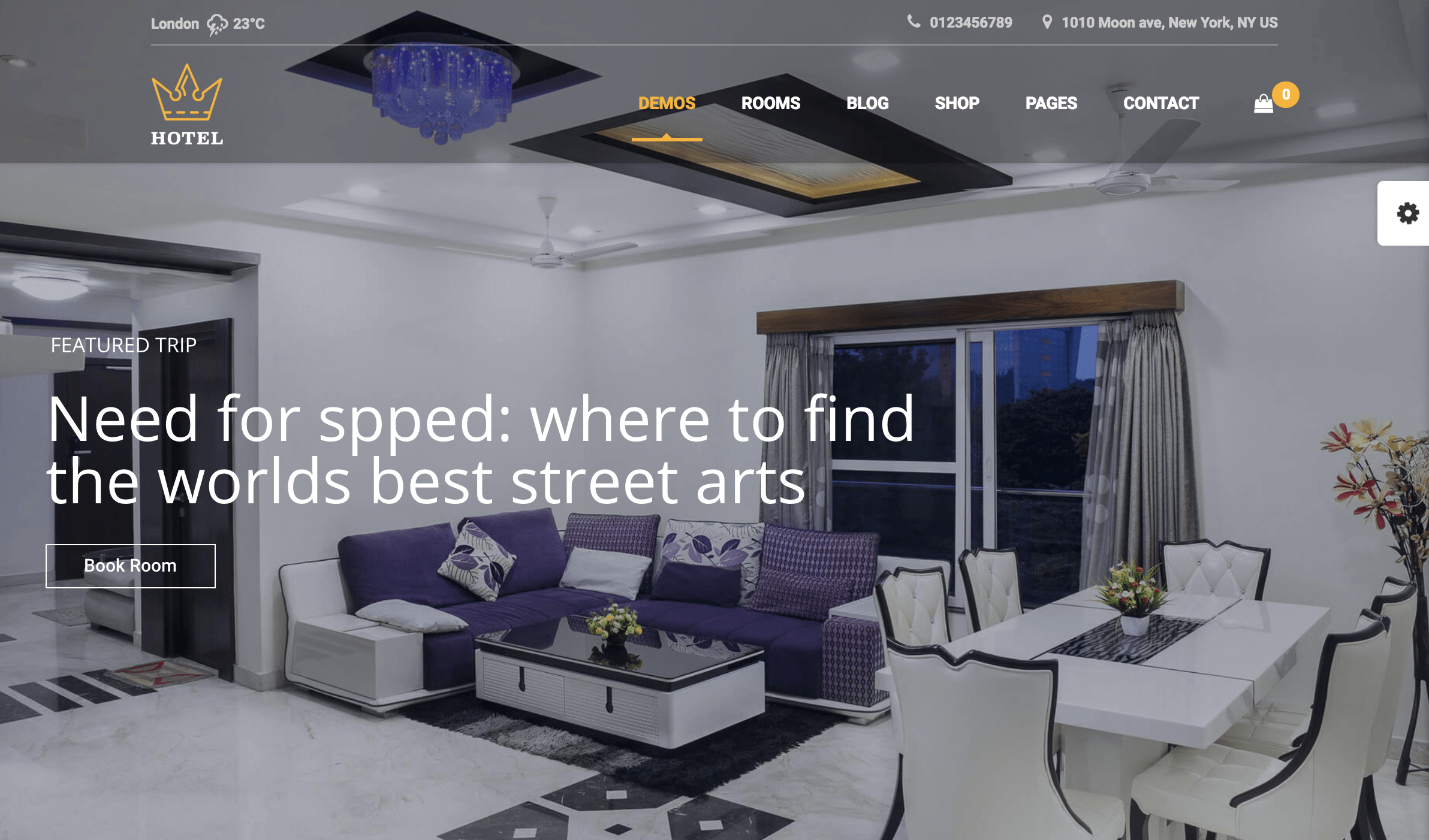 Hotel WordPress Theme | Hotel Queen hostel room rental.png