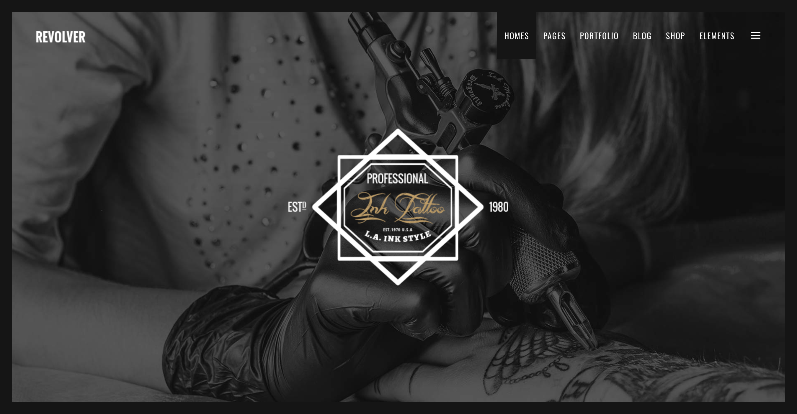 Revolver - A Gentlemen's Theme for Tattoo Salons, Barbershops, Pubs and Biker Clubs.png