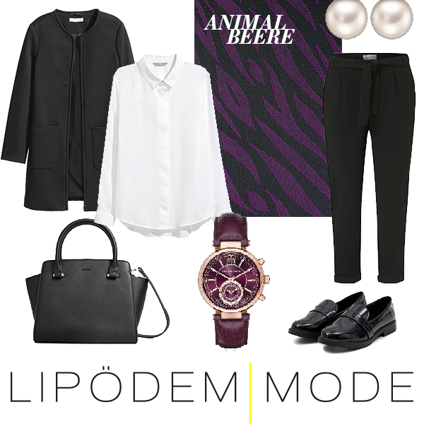 lipoedem mode moodboard outfit animal beere medi muster