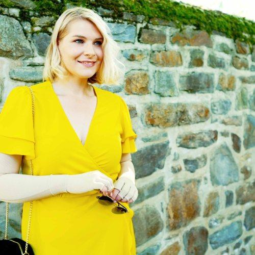 lipoedem mode outfit ornaments gelb medi sommer kleid