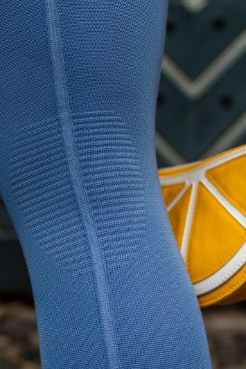 lipödem mode Kompressinsstrumpfhose medi 550 jeansblau Knie Komfortzone funktionszone
