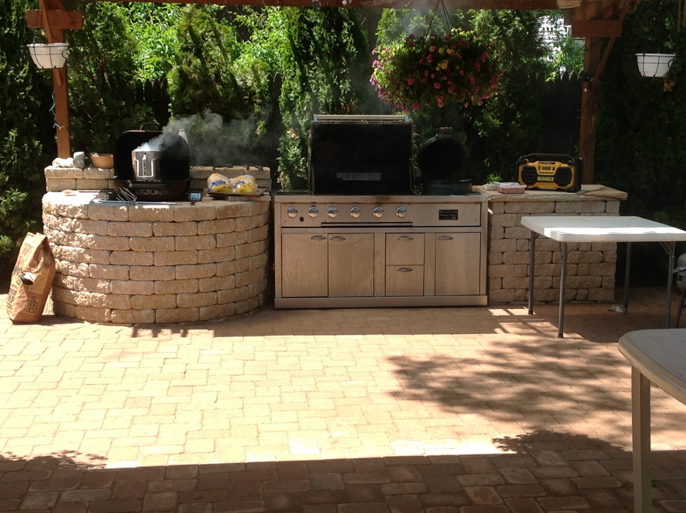 Li Outdoor Kitchens Millers Place Backyard Repair Nyc