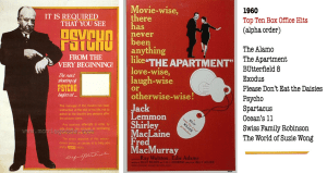 Posters: Psycho & The Apartment
