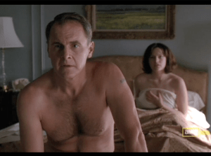 Mad Men, The Grown-Ups, Peggy and Duck in bed