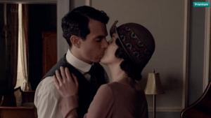 Downton Abbey: Lady Mary kissing Tony