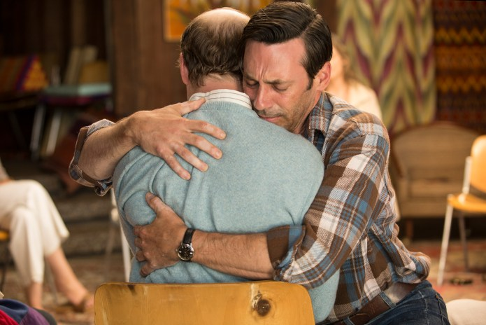 Mad Men-Person to Person, Don hugs Leonard in the seminar