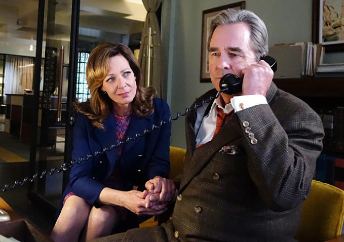 Masters of Sex 3.05, Matters of Gravity, Barton Scully calls his daughter while Margaret looks on
