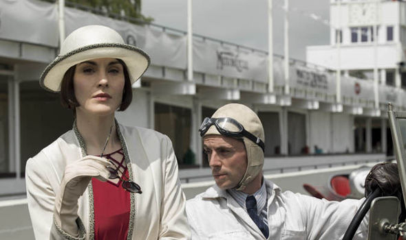 Downton Abbey, Lady Mary and Henry Talbot at the race track