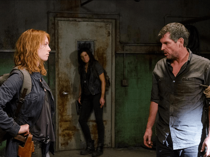 The Walking Dead, The Same Boat, Alicia Witt in the slaughterhouse