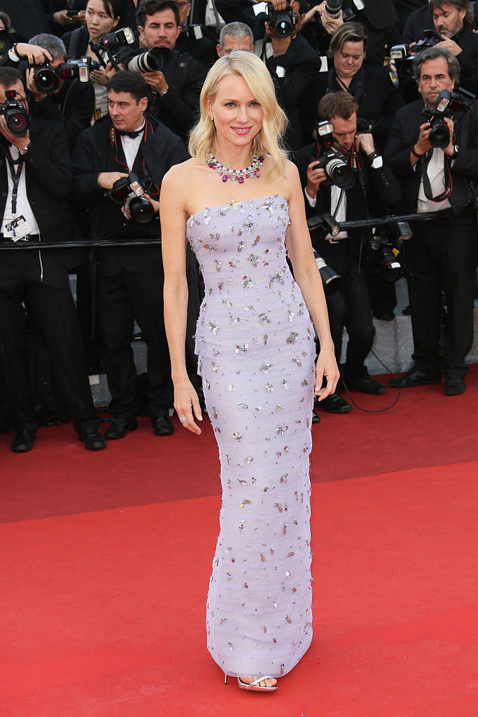 "CANNES, FRANCE - MAY 11: Naomi Watts attends the screening of ""Cafe Society"" at the opening gala of the annual 69th Cannes Film Festival at Palais des Festivals on May 11, 2016 in Cannes, France. (Photo by Tony Barson/FilmMagic)"