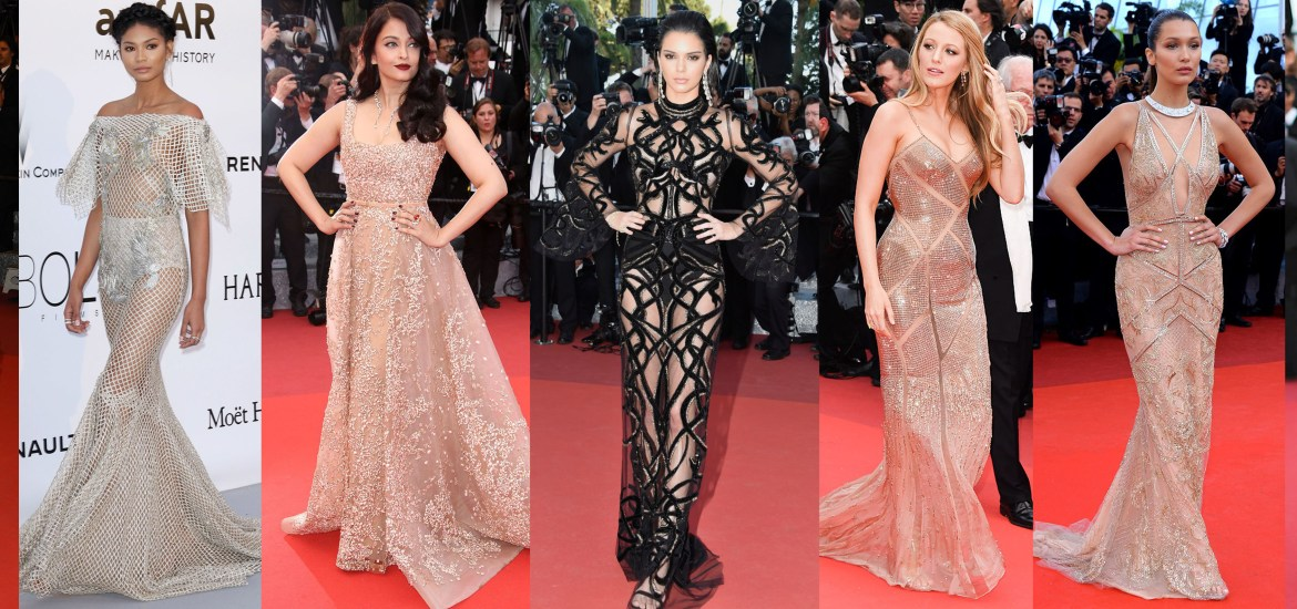 Sheer Nude Gowns Cannes Lipstick Alchemist